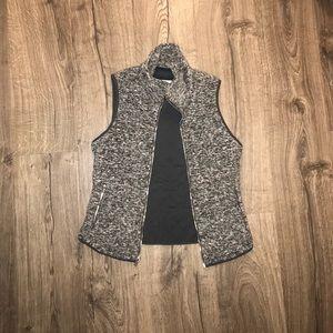 Gray Fleece Vest